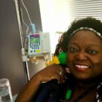 Tinu Abayomi-Paul at second day of chemo in July